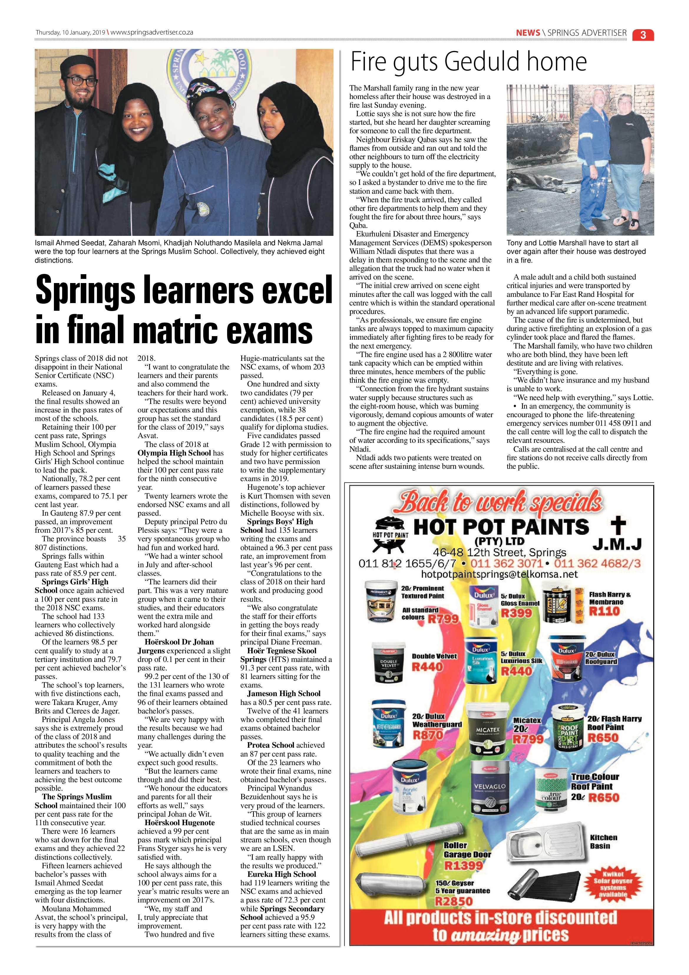 Springs Advertiser 10 January 2019   Springs Advertiser