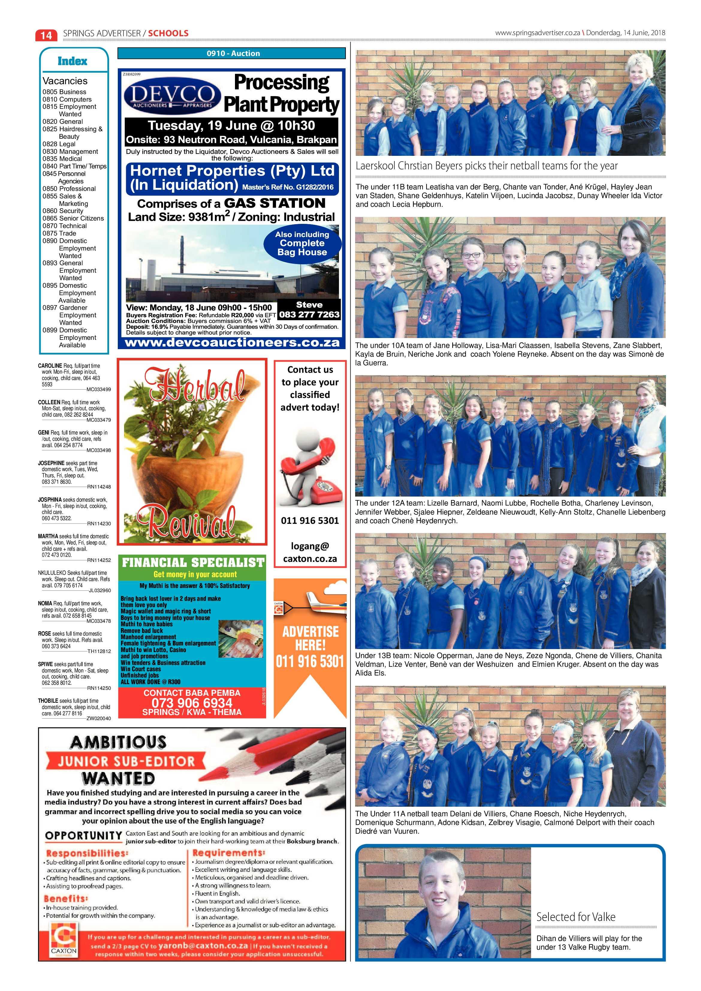 Springs Advertiser 14 June 2014 | Springs Advertiser